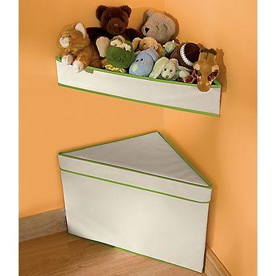 Charmant Corner Storage Bins U0026 Shelf, Canvas Toy Storage Bags, Organizers