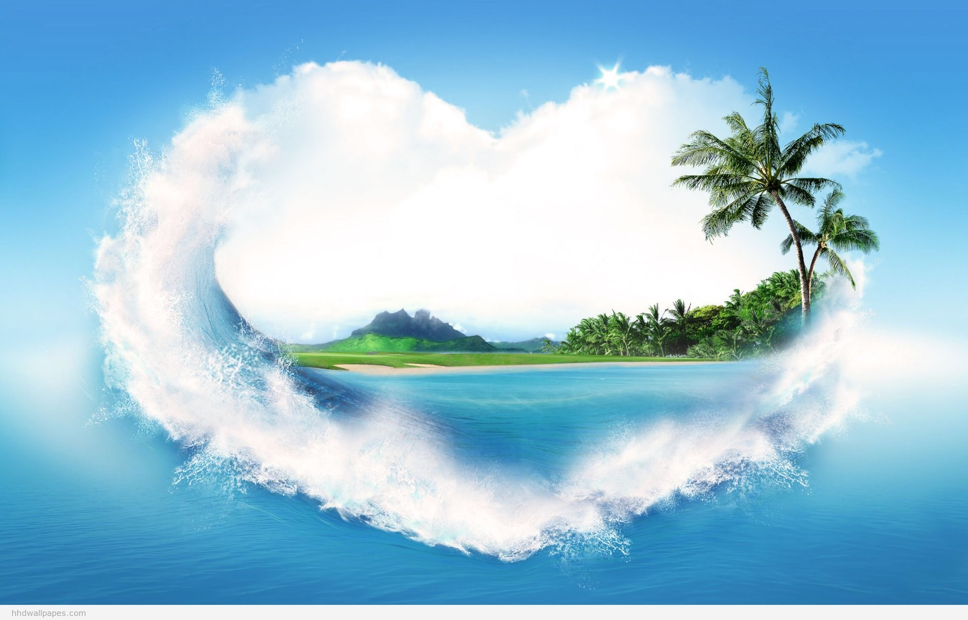 Island Heart Hd Nature Wallpapers Best Nature Wallpapers 3d Nature Wallpaper