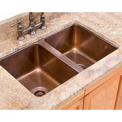 Legacy signature smooth copper double bowl drop in kitchen - Copper drop in kitchen sink ...