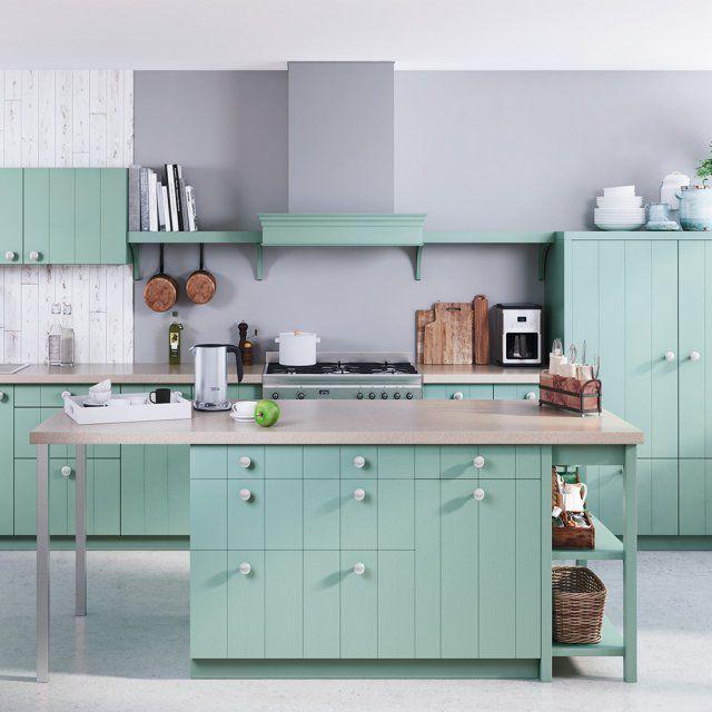 Cuisine verte  nos plus beaux modèles Cuisine verte, Les cuisines
