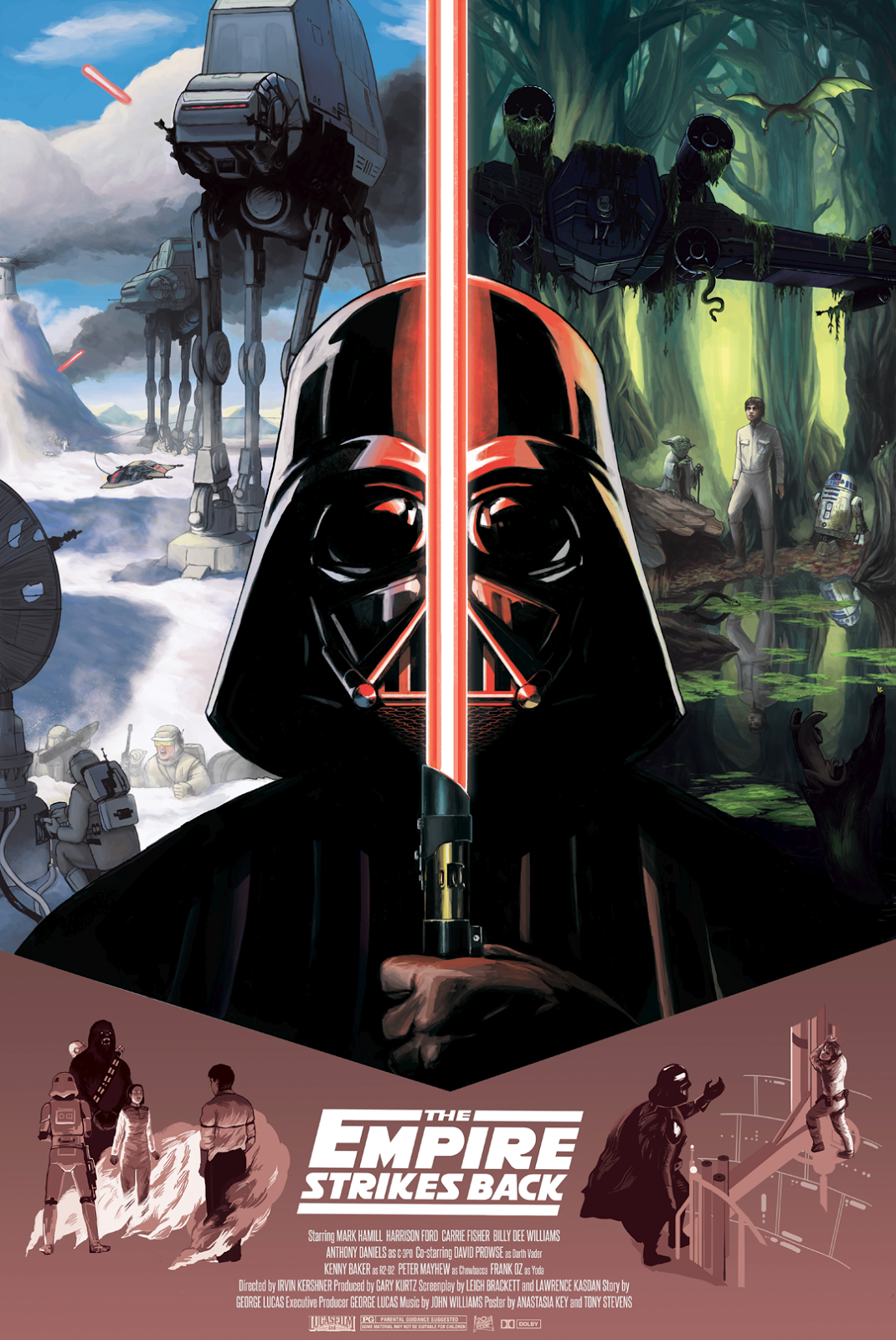 Cool Art Star Wars Original Trilogy By Anastasia Key Star Wars Movies Posters Star Wars Poster Star Wars Images