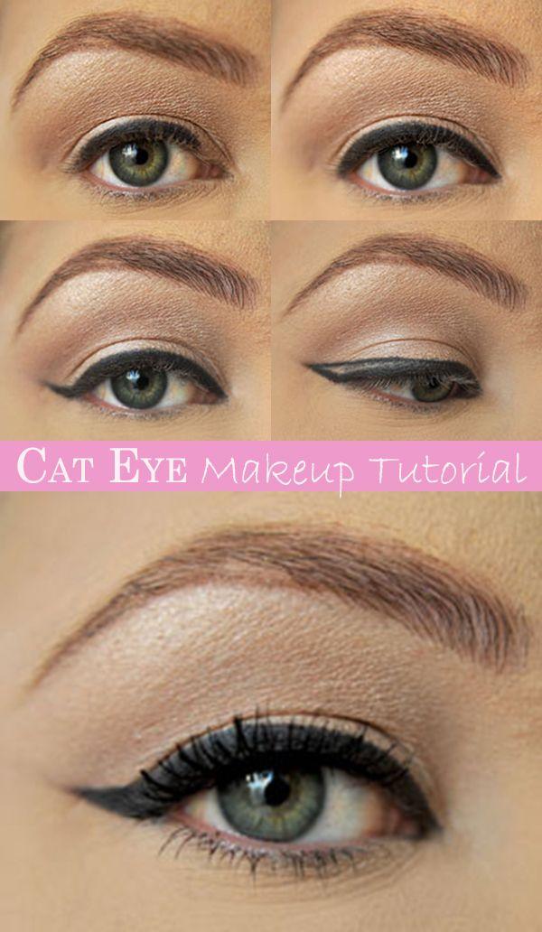 Cat Eye Makeup Tutorial Beautymakeup Pinterest Cat Eye Makeup