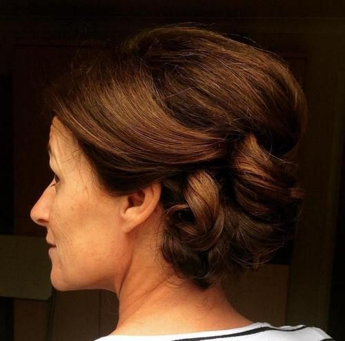 Mature long hair styles updos