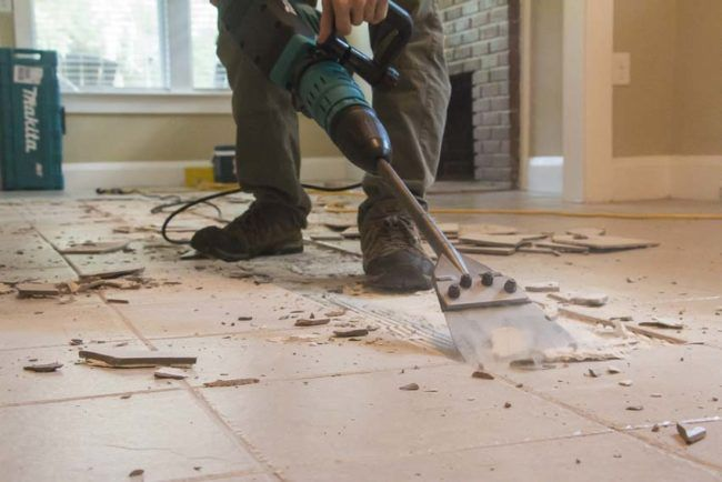 How To Remove Tile The Easy Way Like A Pro Remodel