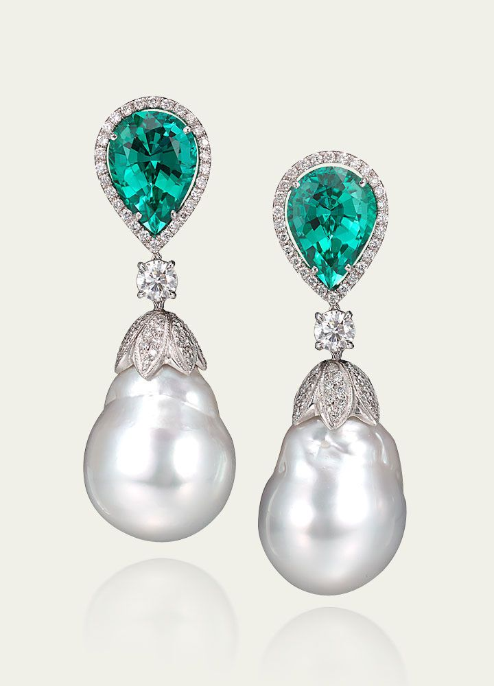 Cartier Pearl Diamond Earrings