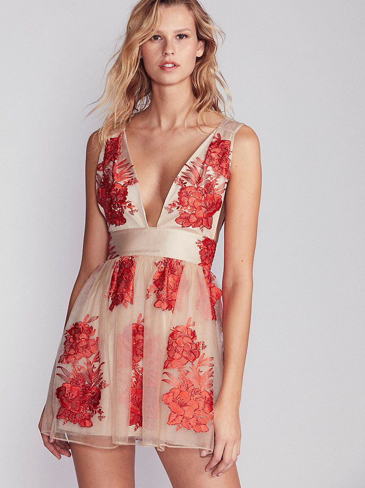 45e5dfadcd1 Sarah Embroidered Mini Dress from Free People!