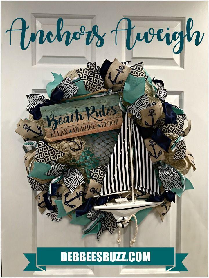 DIY Anchors Aweigh Sailboat Wreath