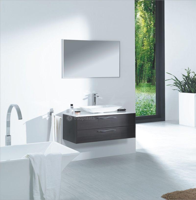 design badkamermeubel detroit 100cm breed hoogglans wit blad