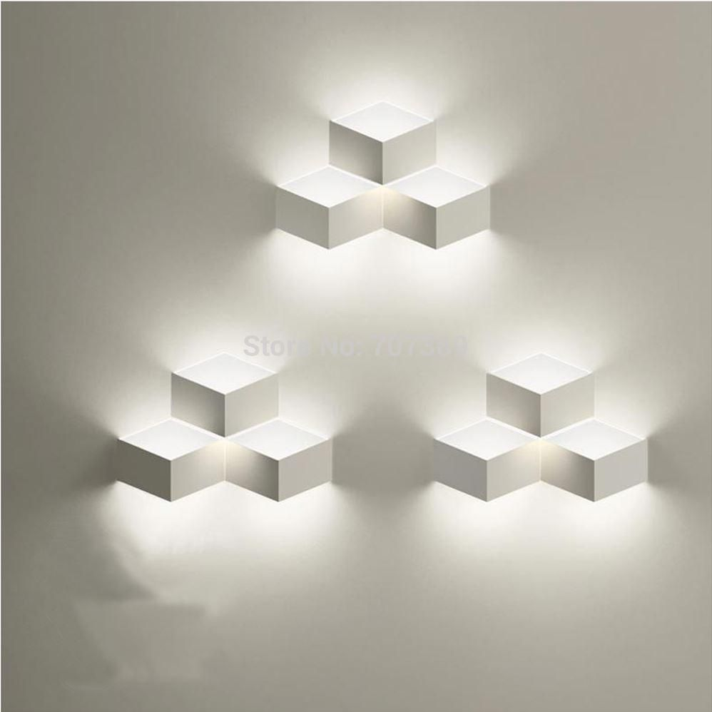 Modern brief iron boxcube wall lightlampsconceled included220 modern brief iron boxcube wall lightlampsconceled included aloadofball Choice Image