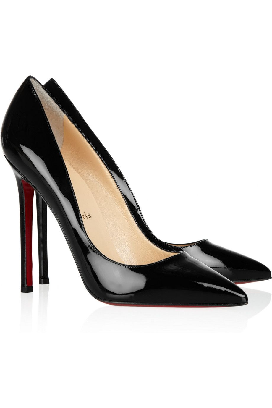 32ae1554e71 I heart these classic shoes...one day... Christian Louboutin Pigalle 120  patent leather pumps