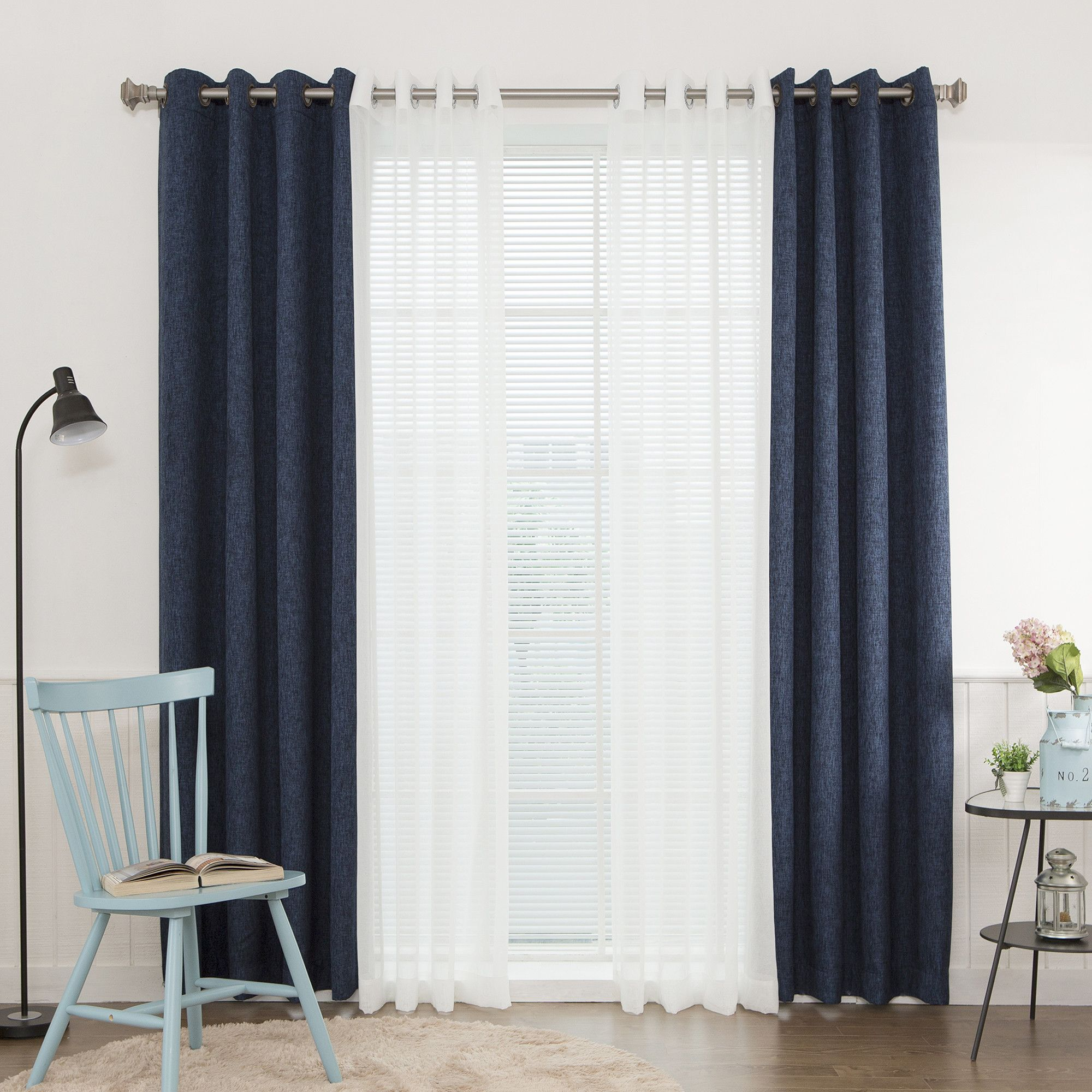 window panel elise stripe woven and sheer blue c homes curtains gardens better kp curtain