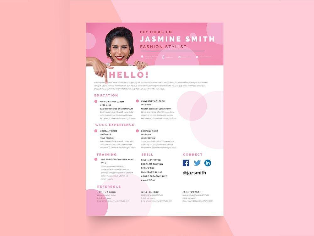 Free fashion stylist resume template resume freeresume