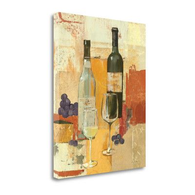 Tangletown Fine Art 'Contemporary Wine Tasting II' by Avery Tillmon Painting Print on Wrapped Canvas