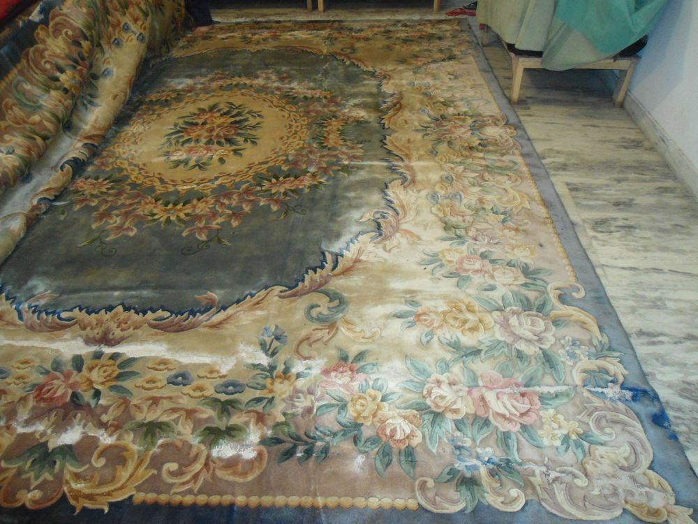 12x15 Faded Blue Chinese Aubusson Wool Area Rug Carpet Area Rugs For Sale Wool Area Rugs Rugs On Carpet