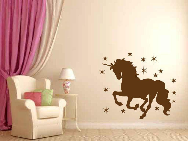 Unicorn vinyl wall decal sticker graphic made from 10 year high quality vinyl which leaves no