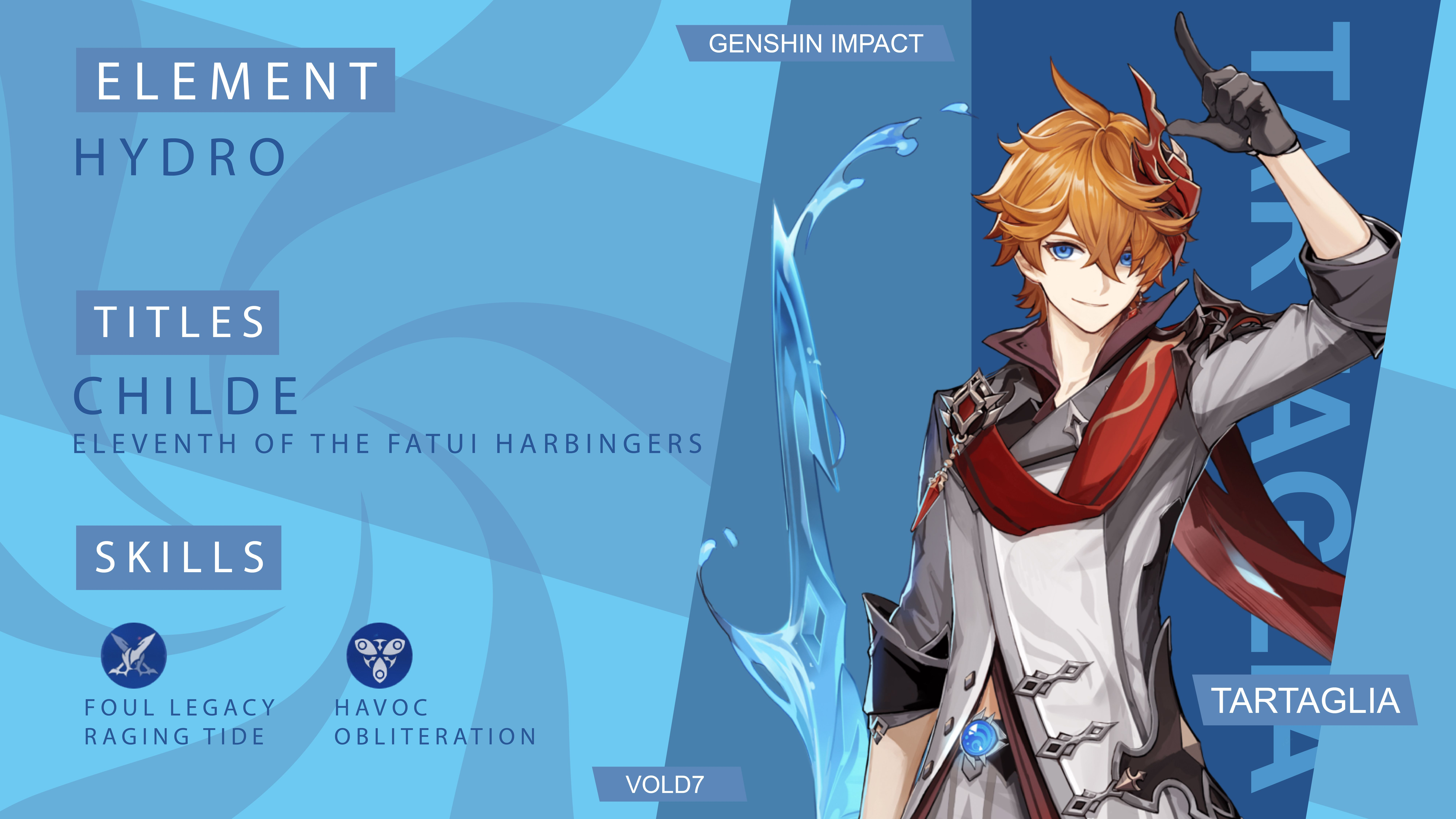 Genshin Impact Tartaglia Childe Wallpaper Pc In 2021 Wallpaper Pc Wallpaper Game Character