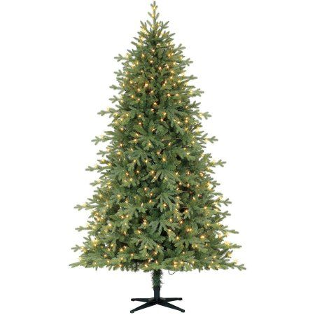 holiday time pre lit 75 linden fir artificial christmas tree led clear lights - Walmart Christmas Trees Pre Lit