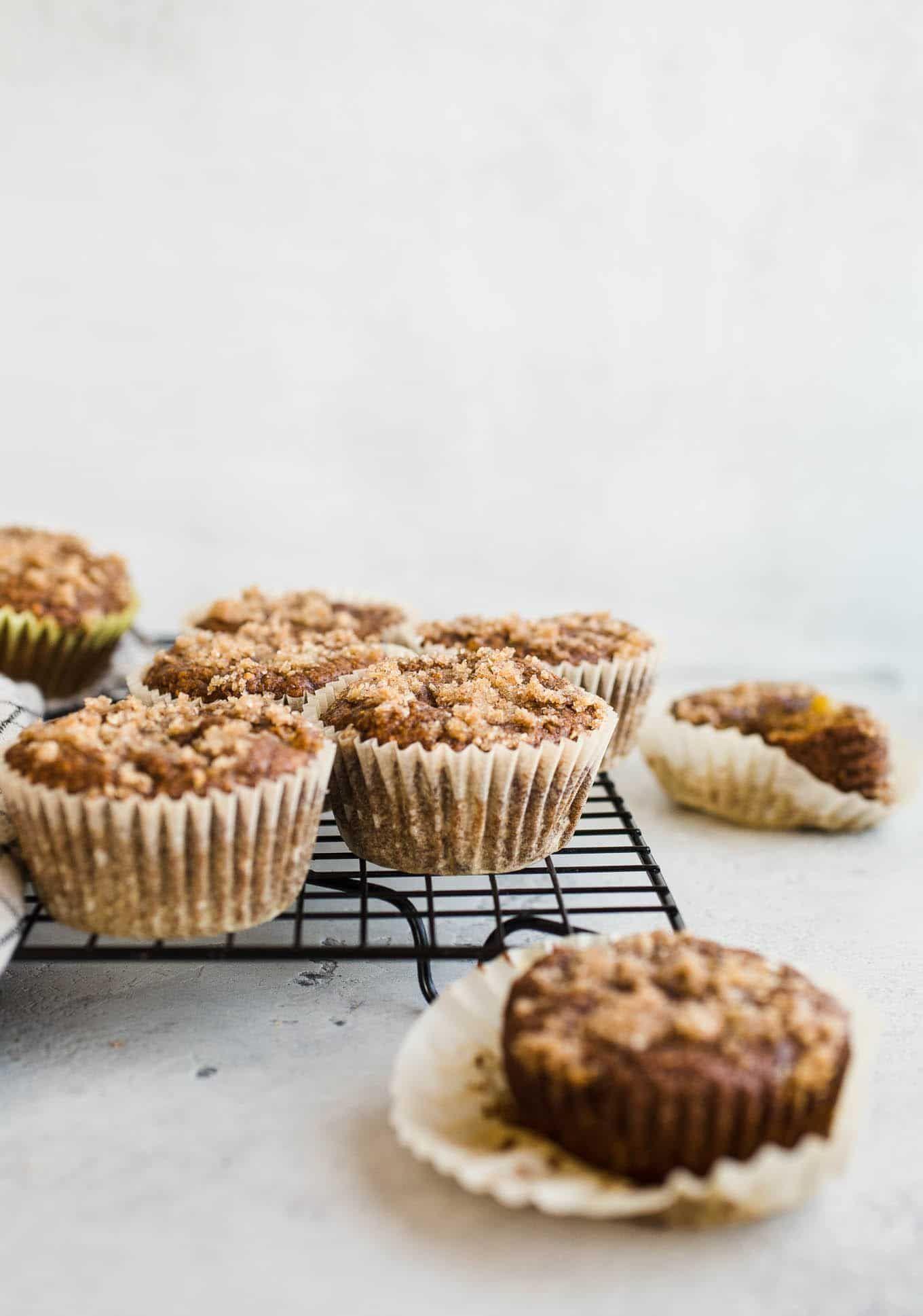 Gluten Free Apple Crumb Muffins Vegan
