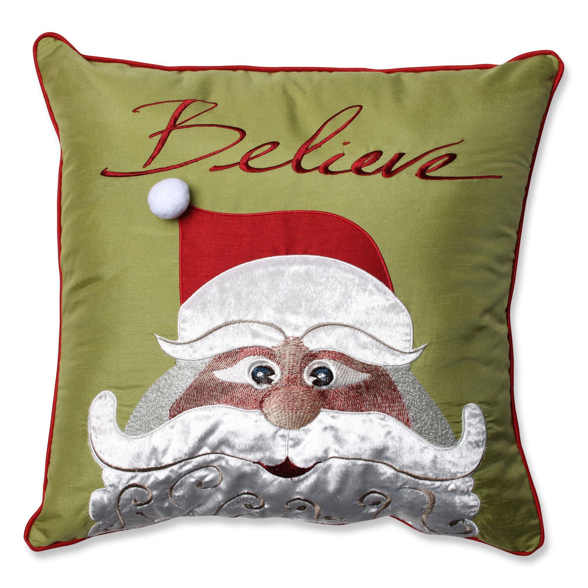 Christmas Santa Believe Throw Pillow