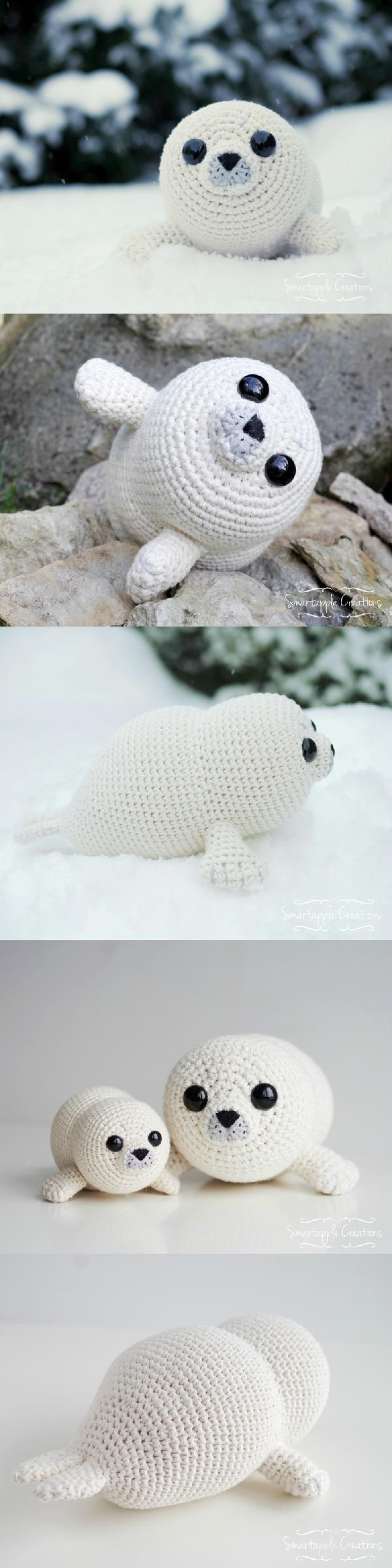 Bubbly The Baby Seal Amigurumi Pattern #Bubbles | Amigurumi ...