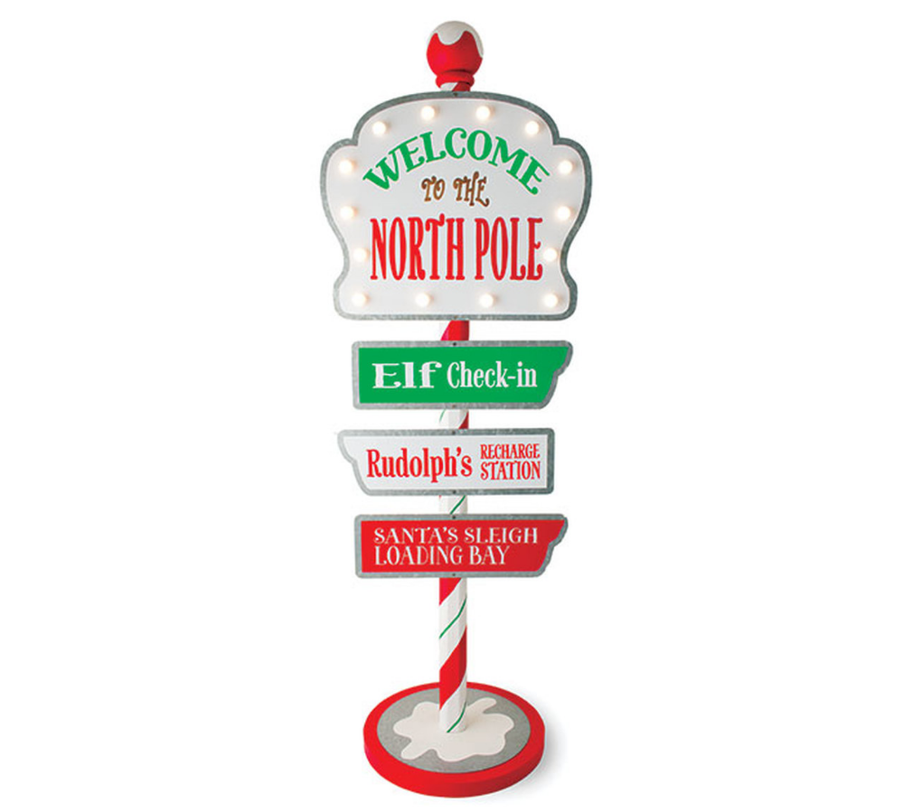 44 Lighted Welcome To The North Pole Marquee Christmas Sign 9734217 North Pole Sign North Pole Pole Sign