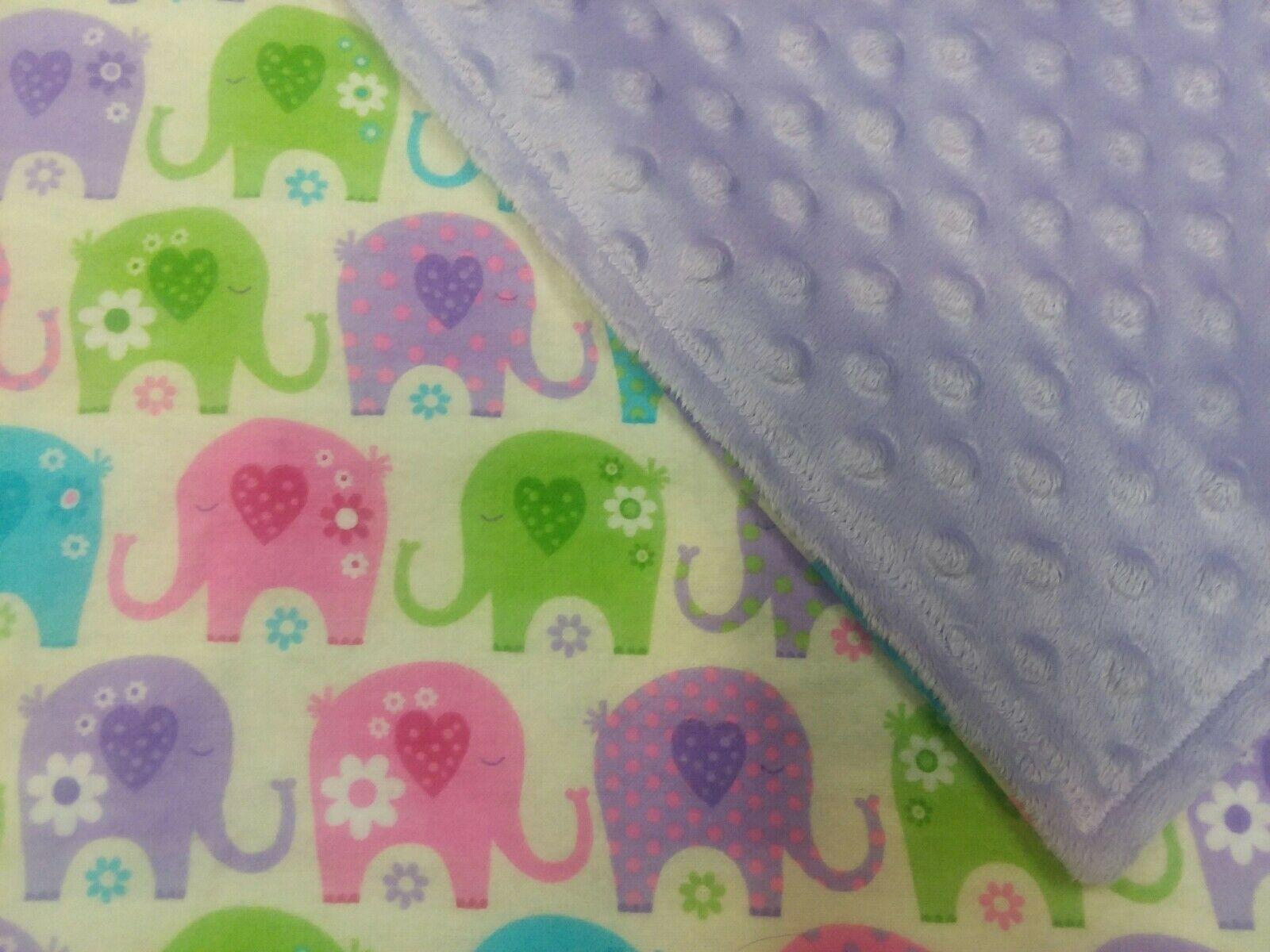 Elephant Flannel Minky Nursery Crib Or Toddler Blanket 40 60