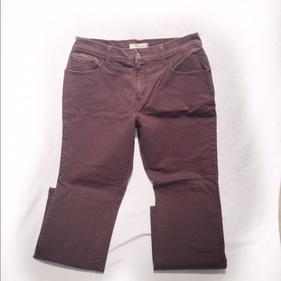 Chocolate brown bootcut jeans