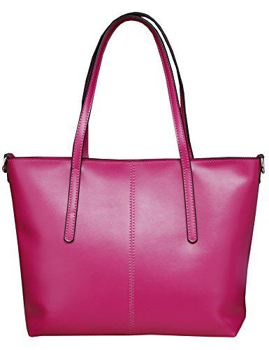 5d729707878 Heshe New Ol Genuine Leather Luxury Double Use Simple Style Summer Fashion  Candy Color Tote Top