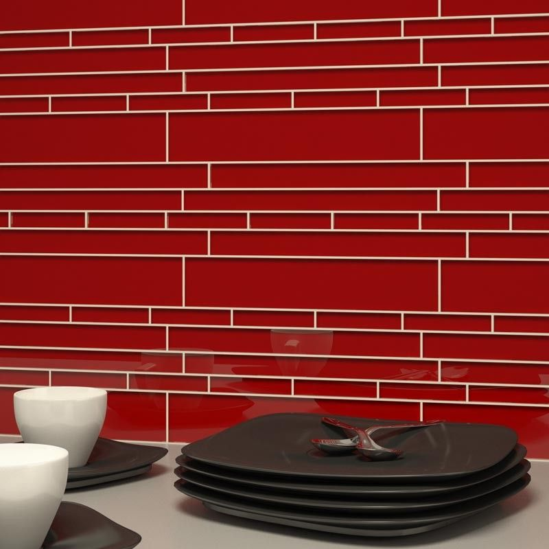 Giorbello Cristezza Club Collection Ruby Red Accent Tile Garage