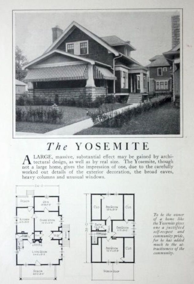 Pin By Sue Rutherford On Early 20th Century Bungalow Vintage House Plans Craftsman Style Homes Craftsman House Plans