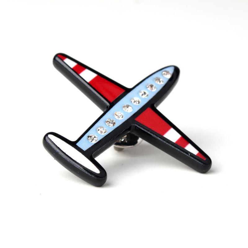 1 개 만화 에나멜 크리스탈 비행기 배지 브로치 소녀 브로치 옷깃 칼라 핀 스카프 클립 브로치 Jewery 액세서리
