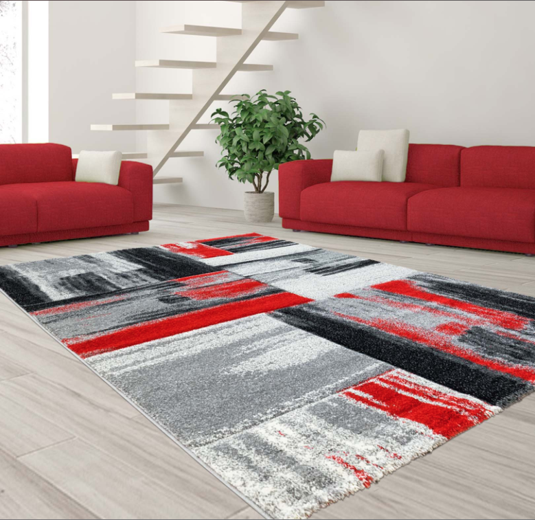 Grey Black Area Rug Grey Red Area Rug Grey Abstract Area Rug