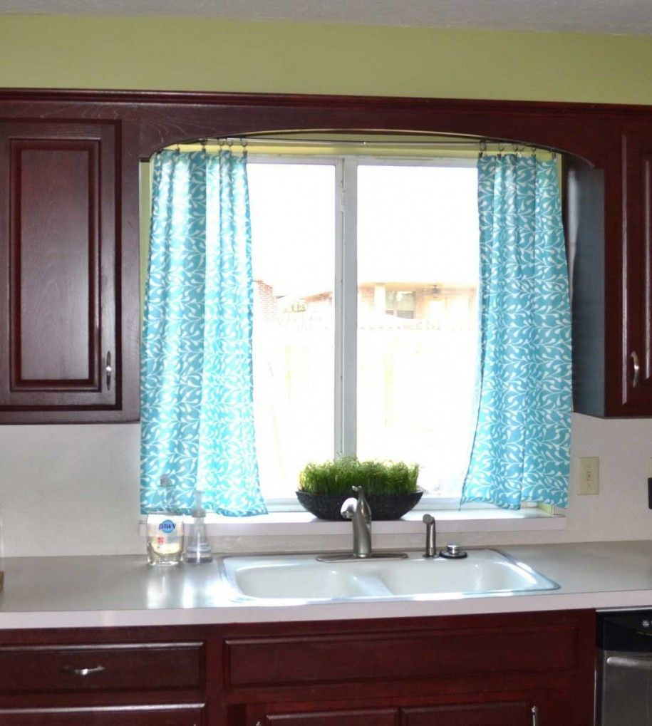 Kitchen Curtains Ideas Blue Color Design Ideas With
