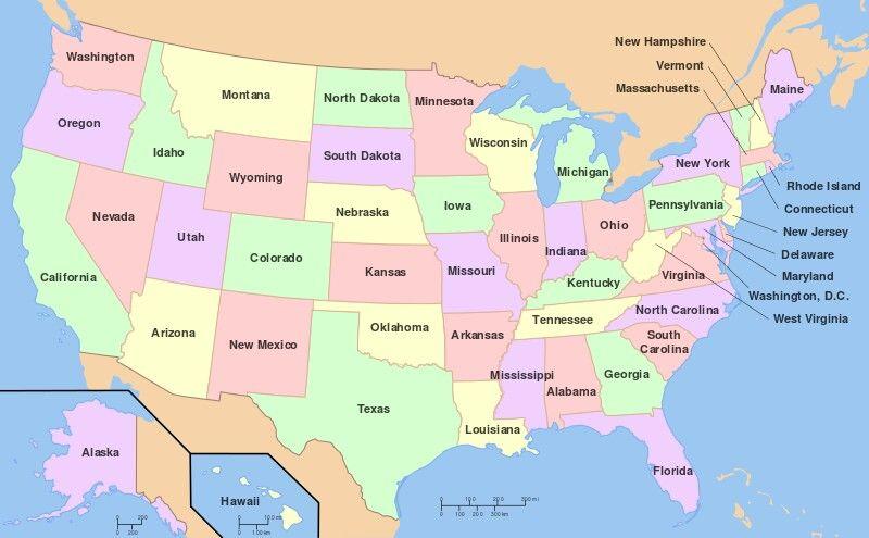 Map of Usa A trip to USA Pinterest