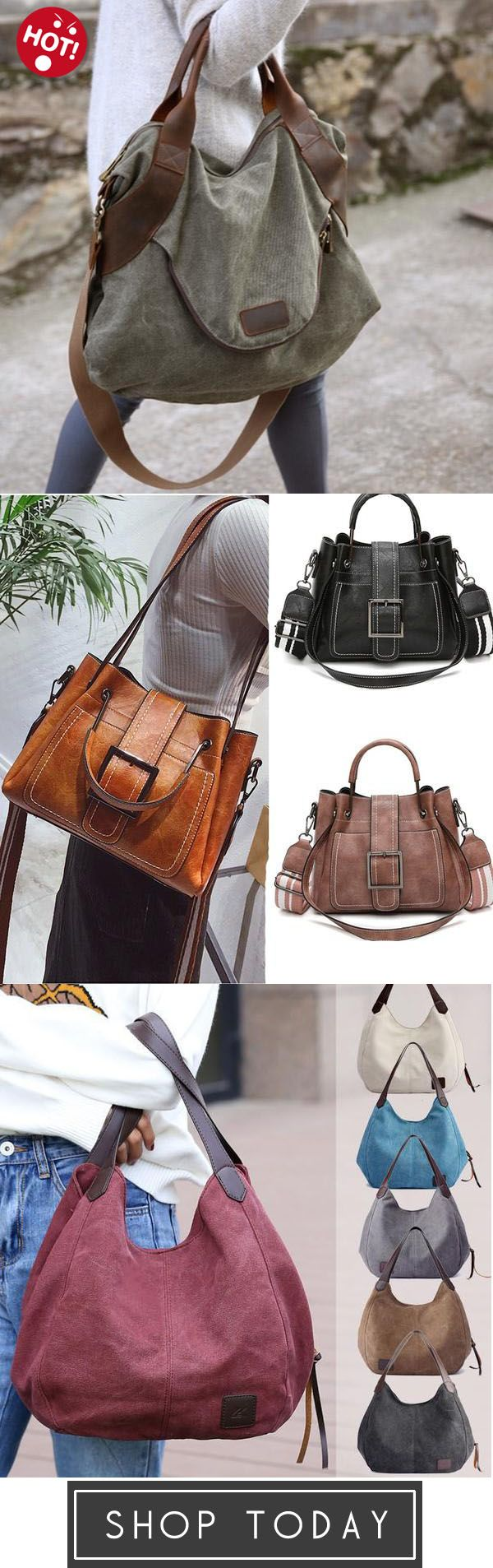 Photo of Large Pocket Casual Handbag Shoulder Cross body Canvas Bags,…