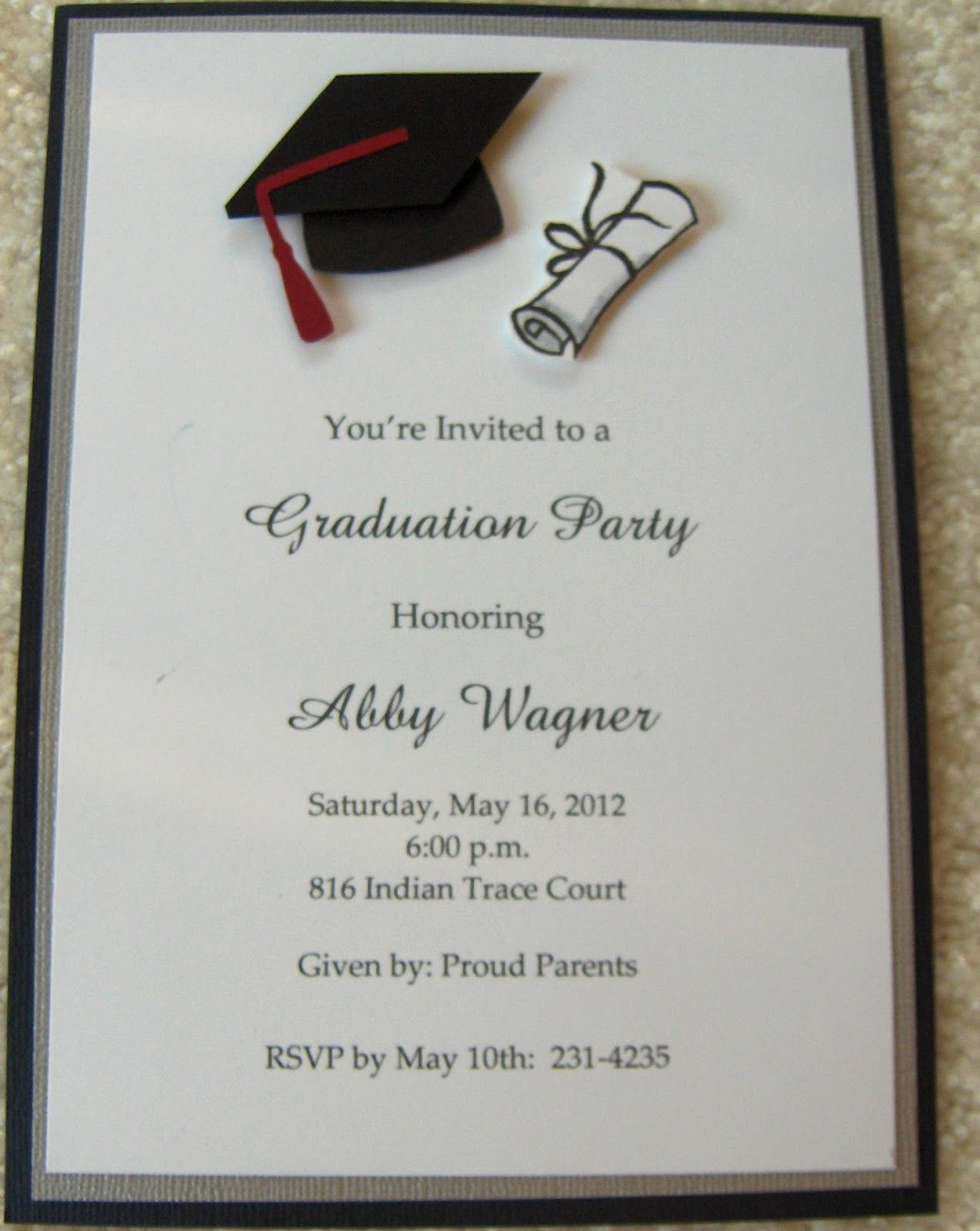 graduation invitations - google search | graduation | pinterest, Party invitations
