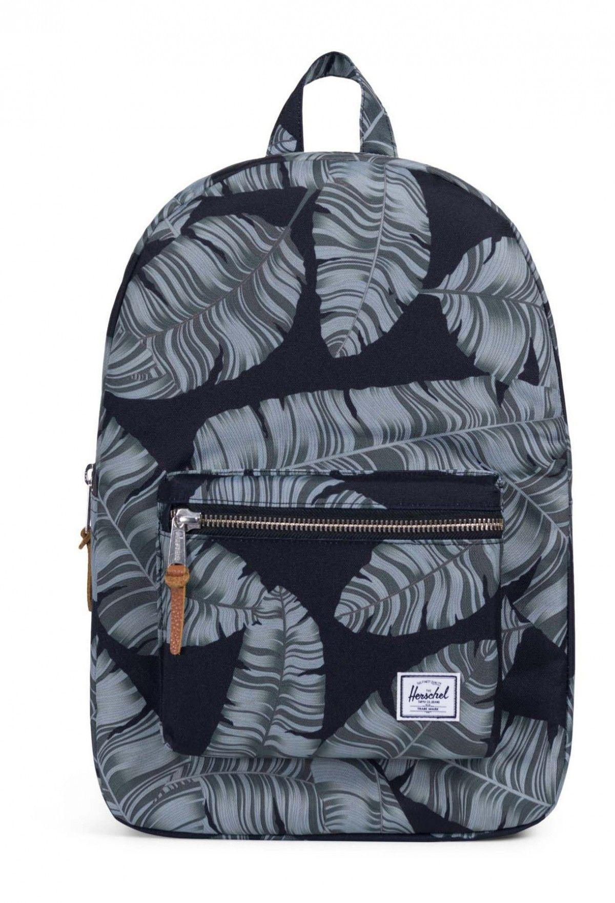 get online well known famous brand Herschel Settlement Backpack 600D Poly Black Palm | Herschel ...