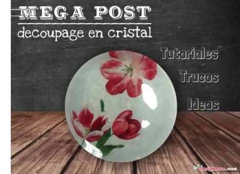Especial, decorar platos con decoupage