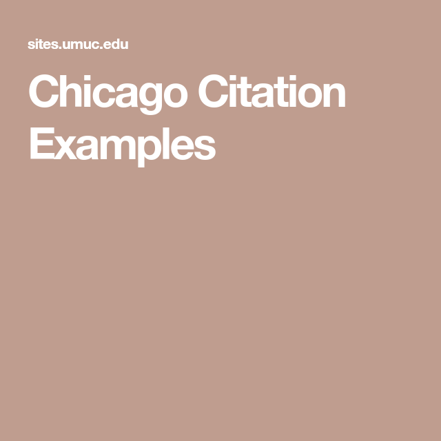 Chicago Citation Examples | Chicago and Turabian Style and