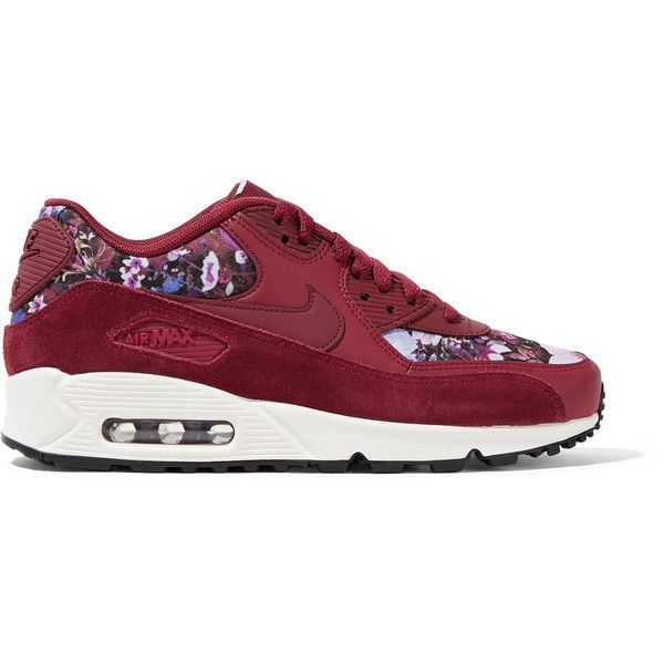 Nike Air Max 90 SE floral print canvas, leather and suede
