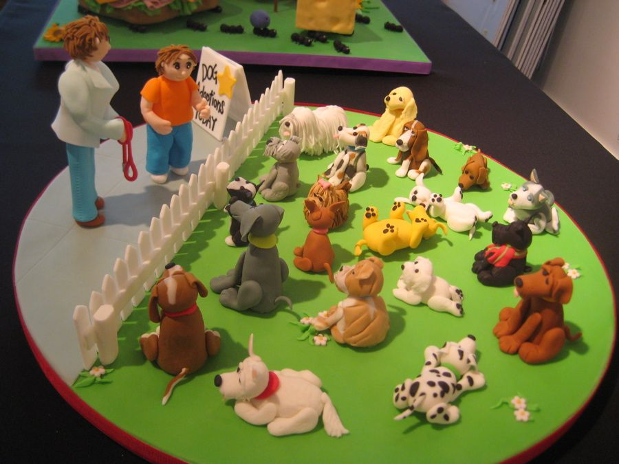 puppy birthday cake for girls Village The Ants Go