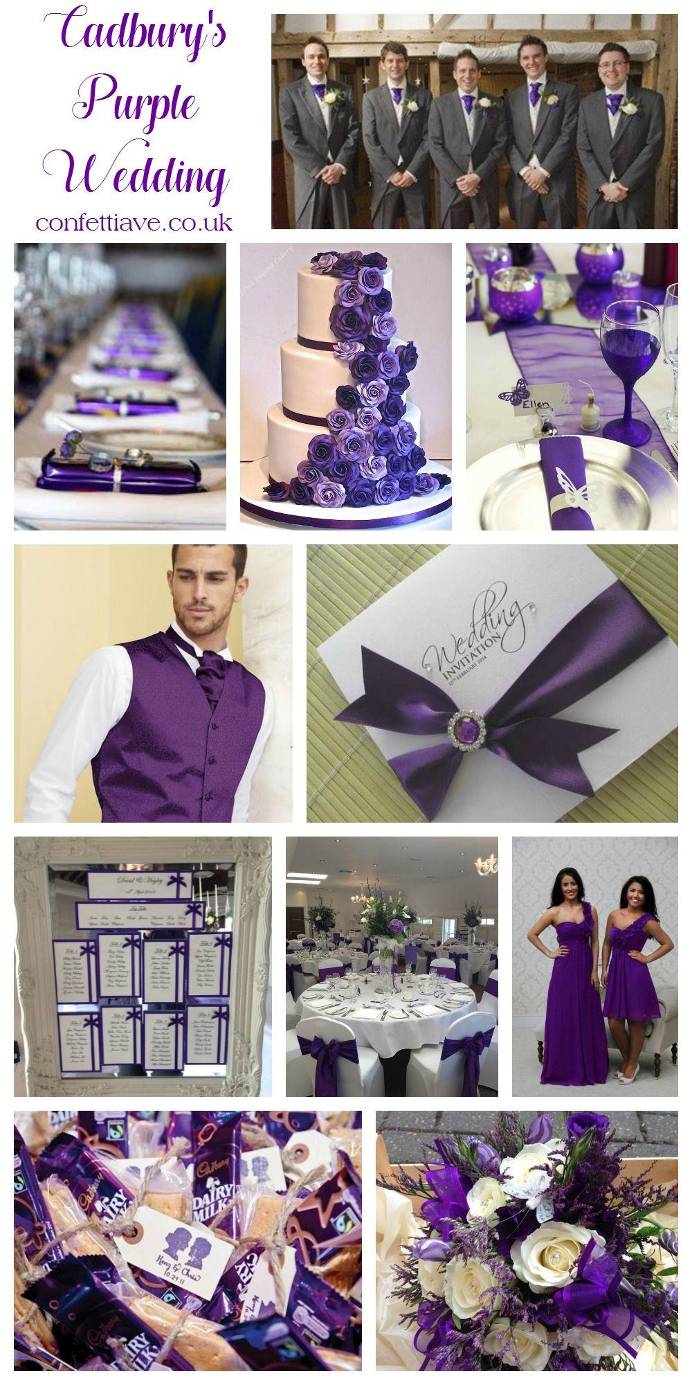 Cadburys Purple Wedding Colour Scheme Mood Board Http Confettiave Co