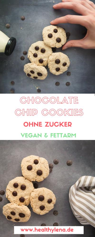 Du bist auf der Suche nach einem Rezept für vegane Chocolate-Chip-Cookies? Dann bist du bei diesen fettarmen Schoko-Cookies ganz ohne raffinierten Zucker genau richtig: vegan, glutenfrei & fettarm. Mit diesen Keksen ist gesund snacken leicht gemacht!
