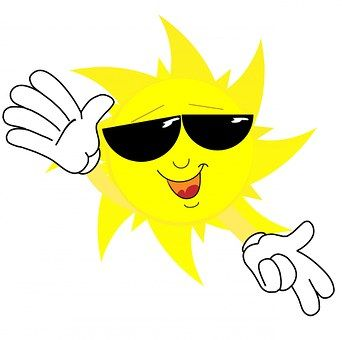 Sun, Face, Sunglasses, Happy, Hands