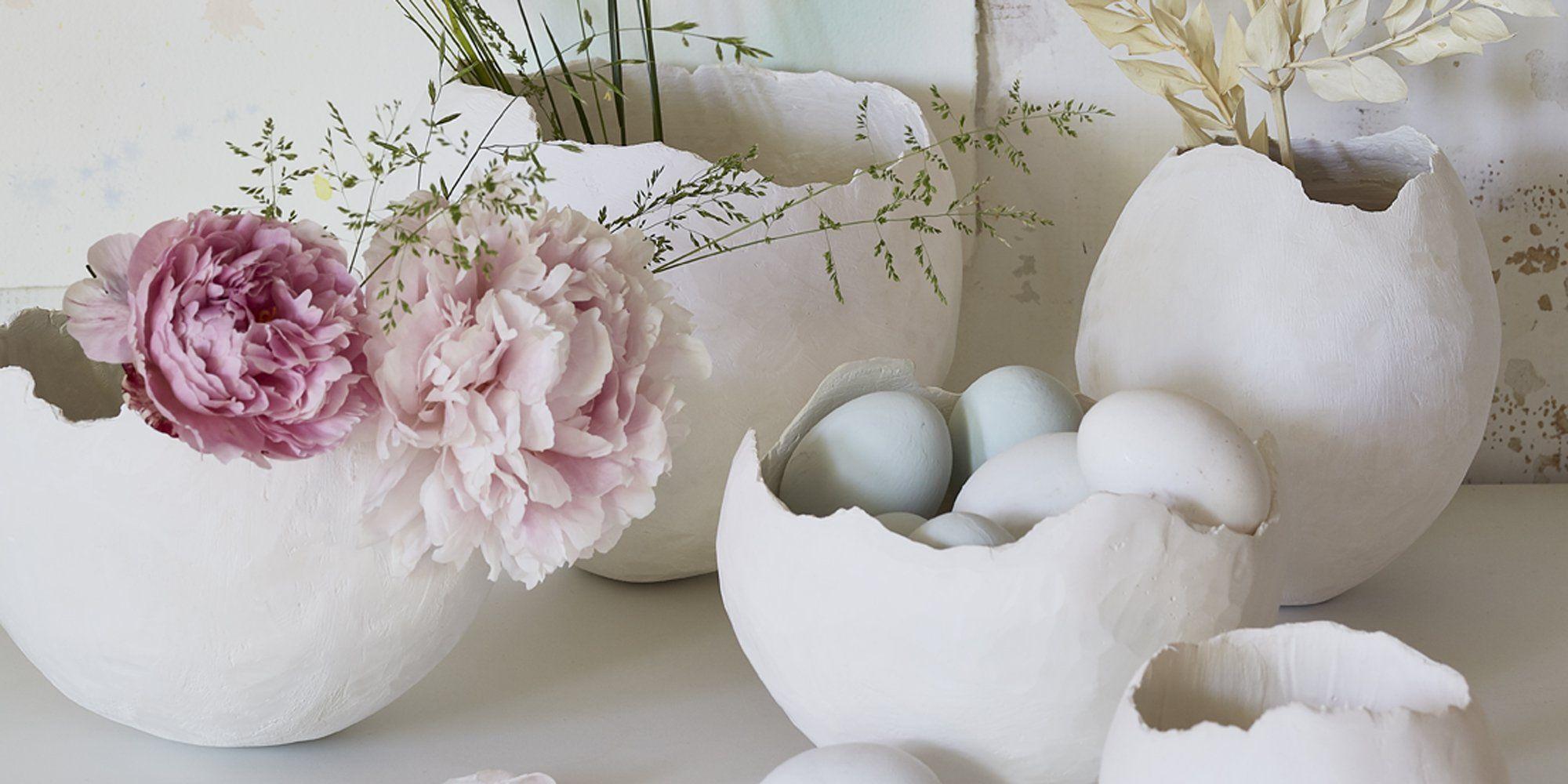 fabriquer des vases avec des bandes de pl tre bricolage. Black Bedroom Furniture Sets. Home Design Ideas