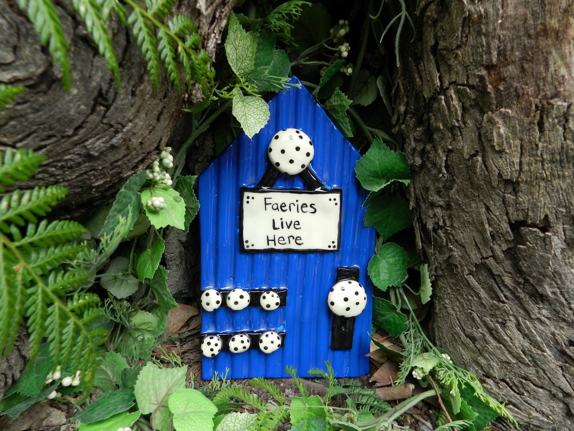 Blue Faerie Door Faeries are Real by Fiorenchantment. Find me on Facebook! & Blue Faerie Door Faeries are Real by Fiorenchantment. Find me on ...