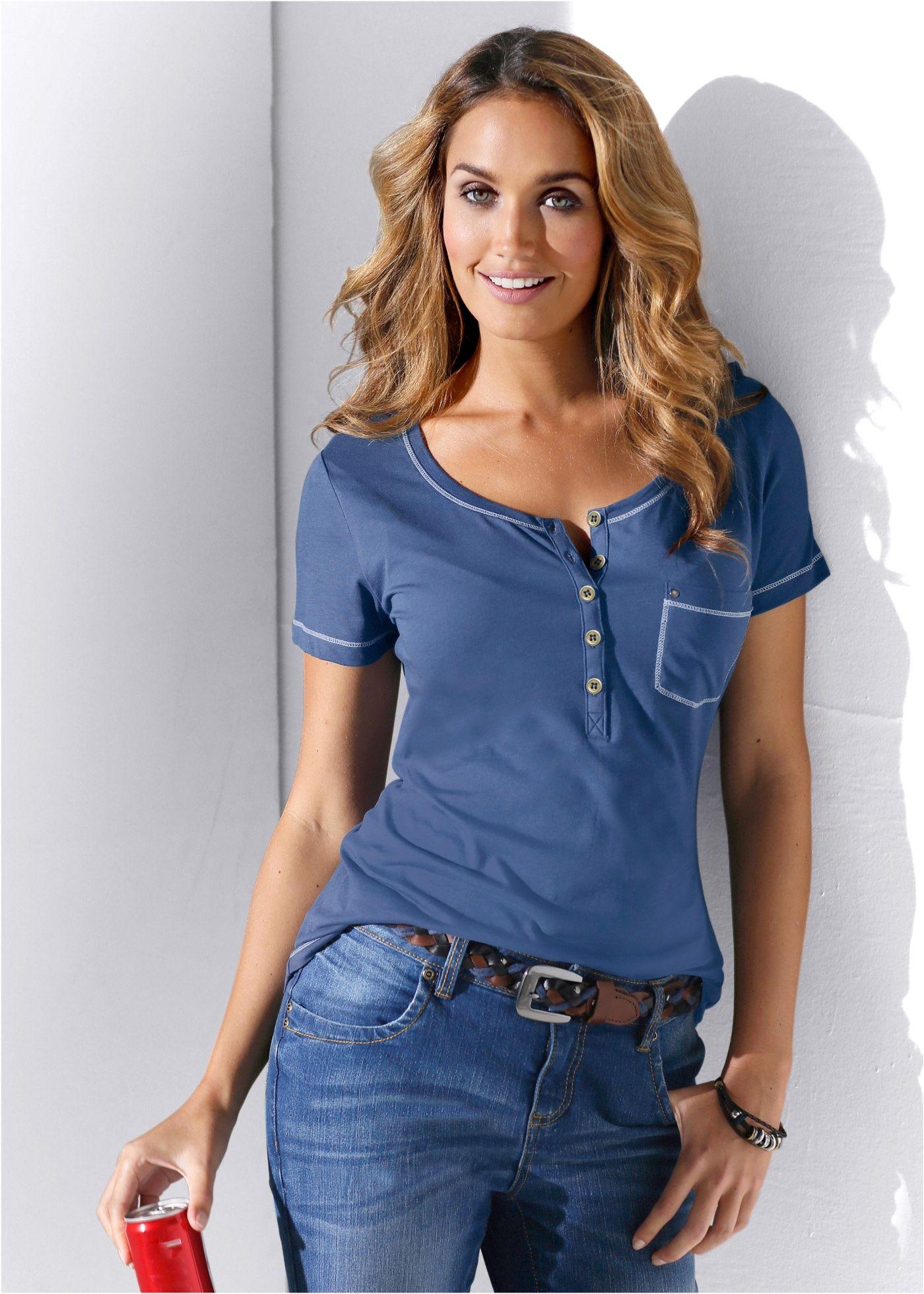 211222f52f Blusa henley azul índigo encomendar agora na loja on-line bonprix.com.br