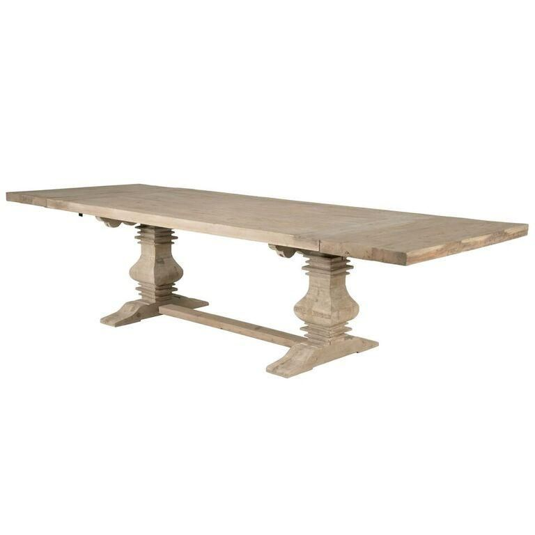 84 120 Modern Grey Pine Extension Conference Table Dining