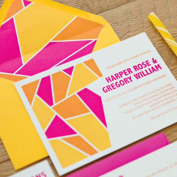 Expensive Wedding Gifts: Geometric Invitation Suite SAMPLE PACK