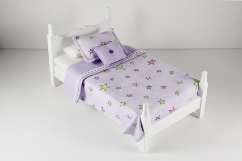 Colorful Stars Print Bed